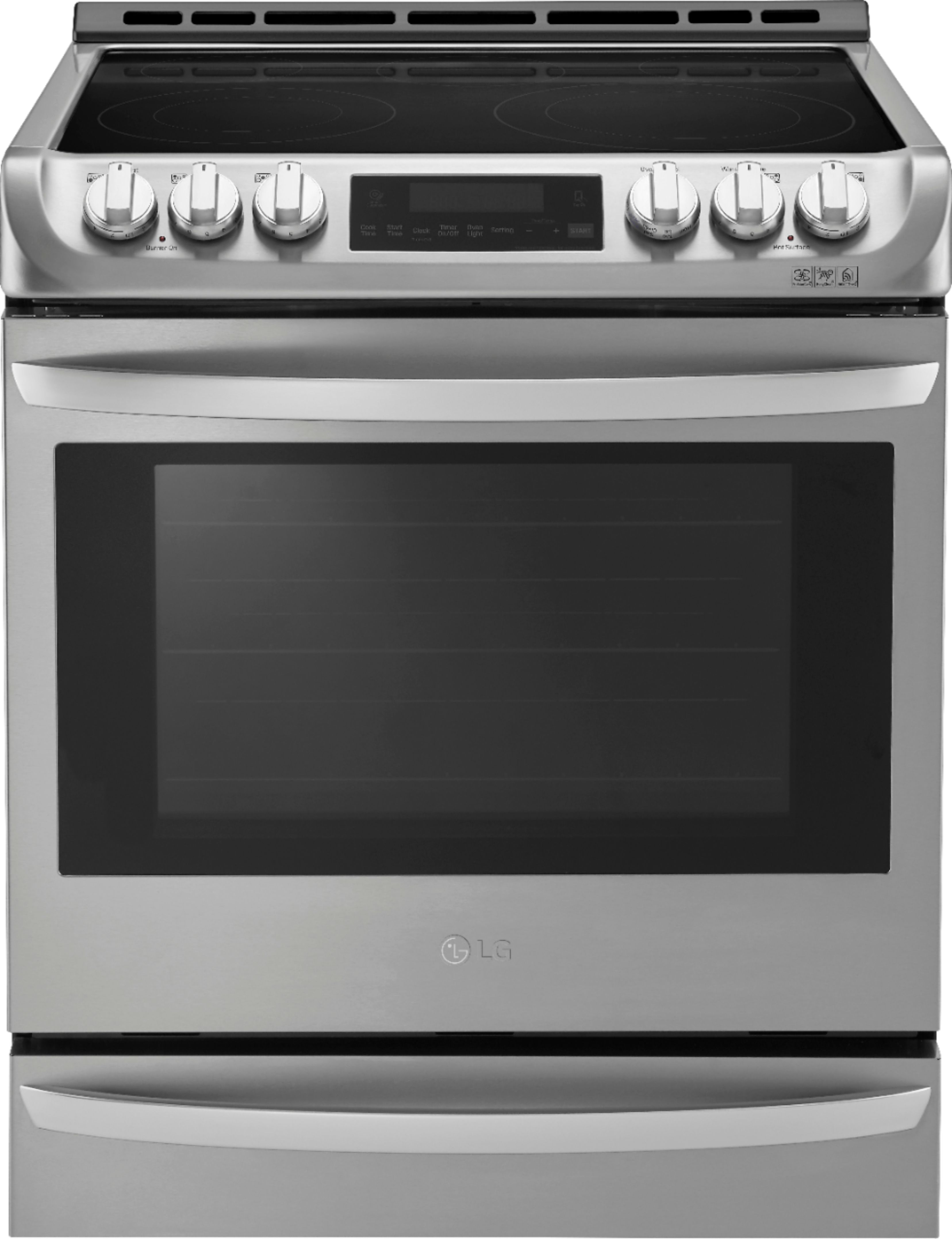 lg 6 3 cu ft self cleaning slide in electric range with probake convection stainless steel