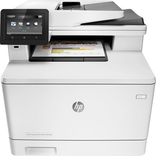 Color Laser Printers   Best Buy HP   LaserJet Pro MFP m477fdn Color All In One Printer   White