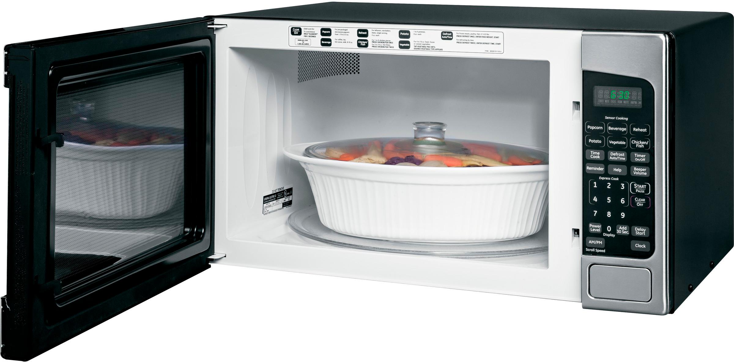 ge 2 0 cu ft full size microwave stainless steel