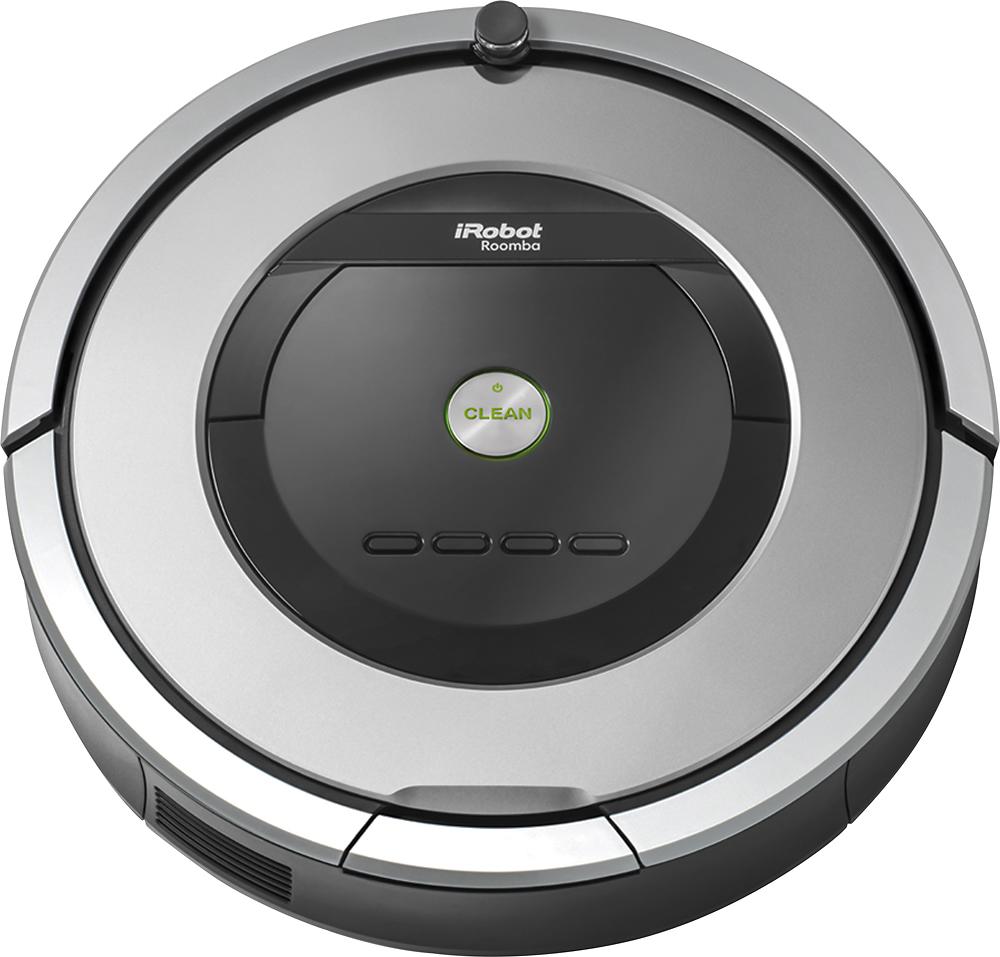 iRobot - Roomba 860 Robot Vacuum - Silver - Front Zoom