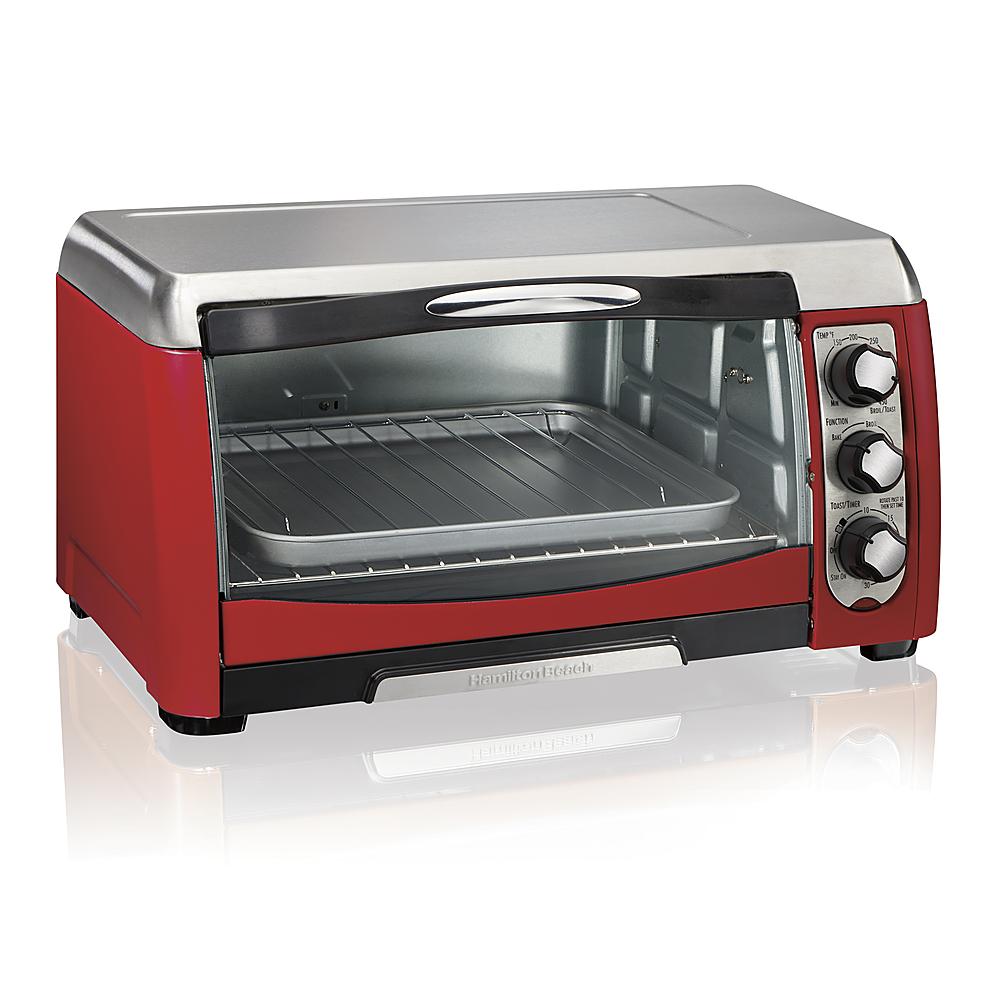 hamilton beach ensemble 6 slice toaster oven red