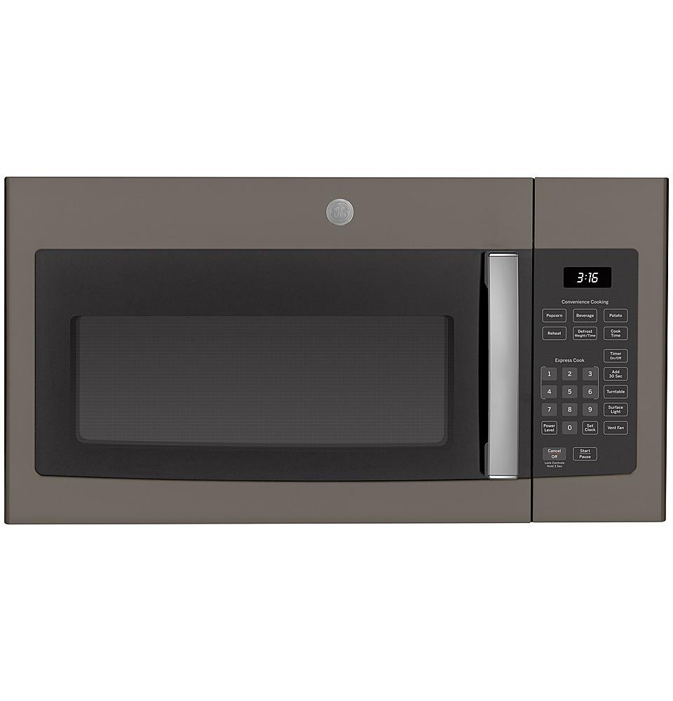 ge 1 6 cu ft over the range microwave slate