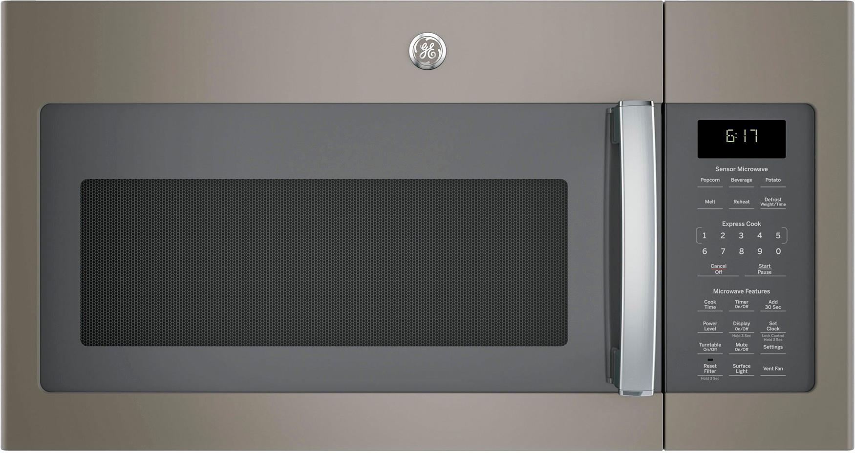 ge 1 7 cu ft over the range microwave slate