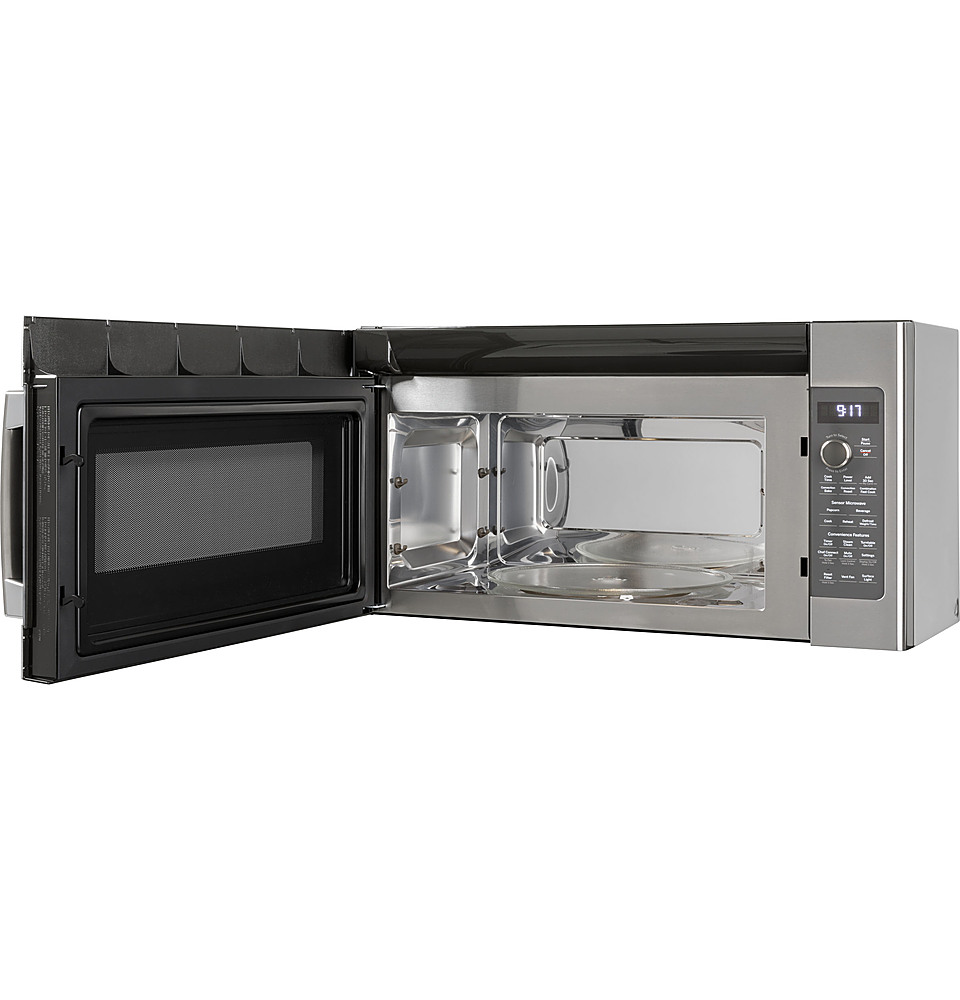 ge profile series 1 7 cu ft over the range microwave with sensor cooking stainless steel pvm9179skss best buy