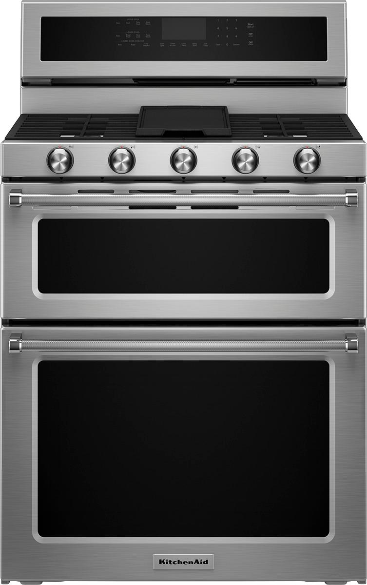 Self Whirlpool Range 2 Oven Stainless Cu Ft 6 Convection Gas Cleaning Steel