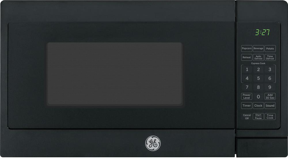 ge 0 7 cu ft compact microwave black on black