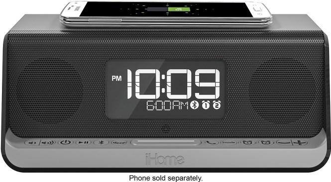 Ihome Dual Alarm Clock With Wireless Qi