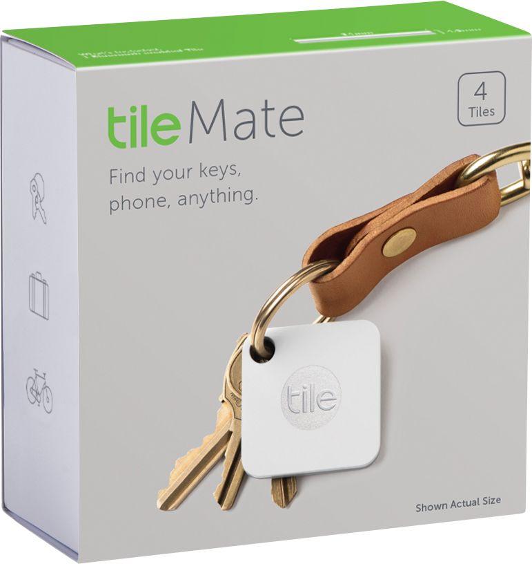 tile mate item tracker 4 pack white