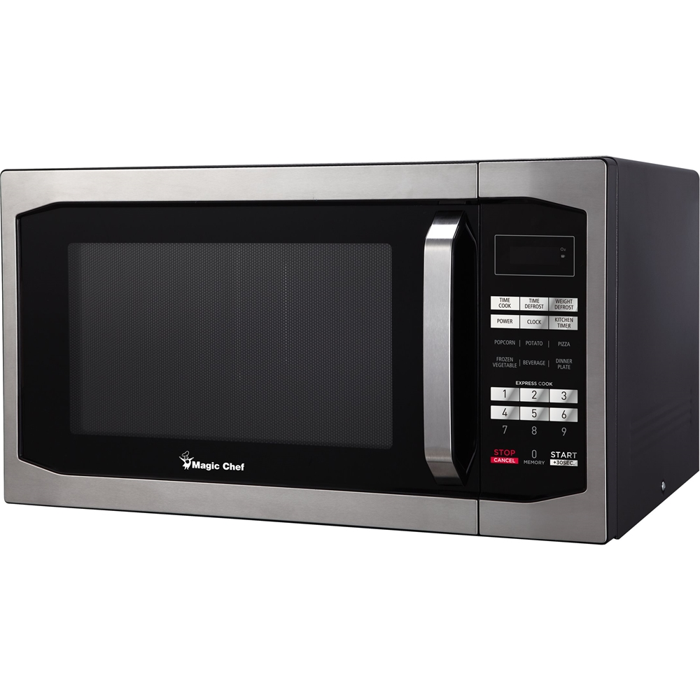 magic chef 1 6 cu ft full size microwave stainless steel