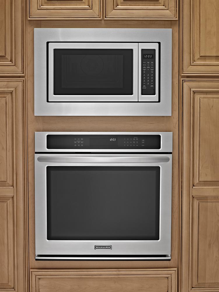 30 trim kit for kitchenaid microwave stainless steel