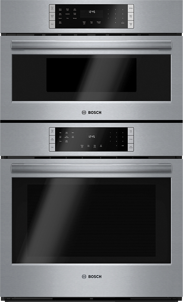 bosch 800 series 30 built in single electric convection wall oven with built in microwave stainless steel