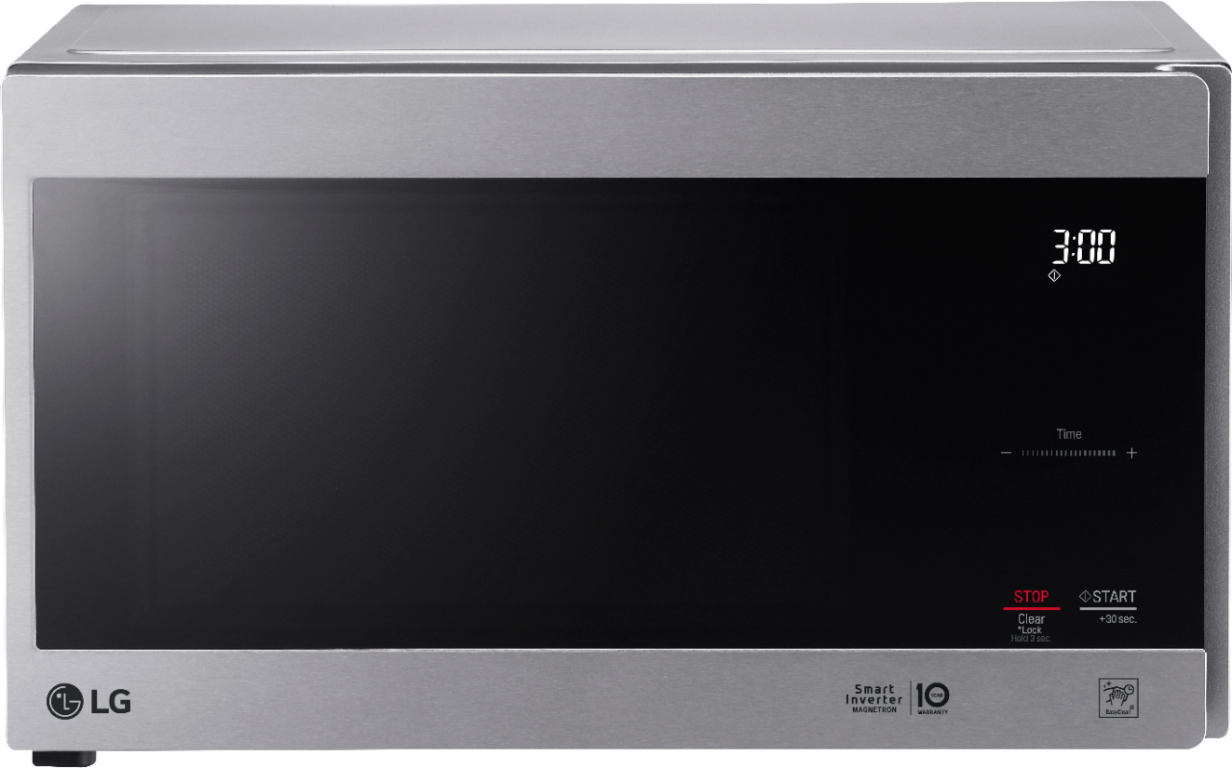 lg neochef 0 9 cu ft compact microwave with easyclean stainless steel