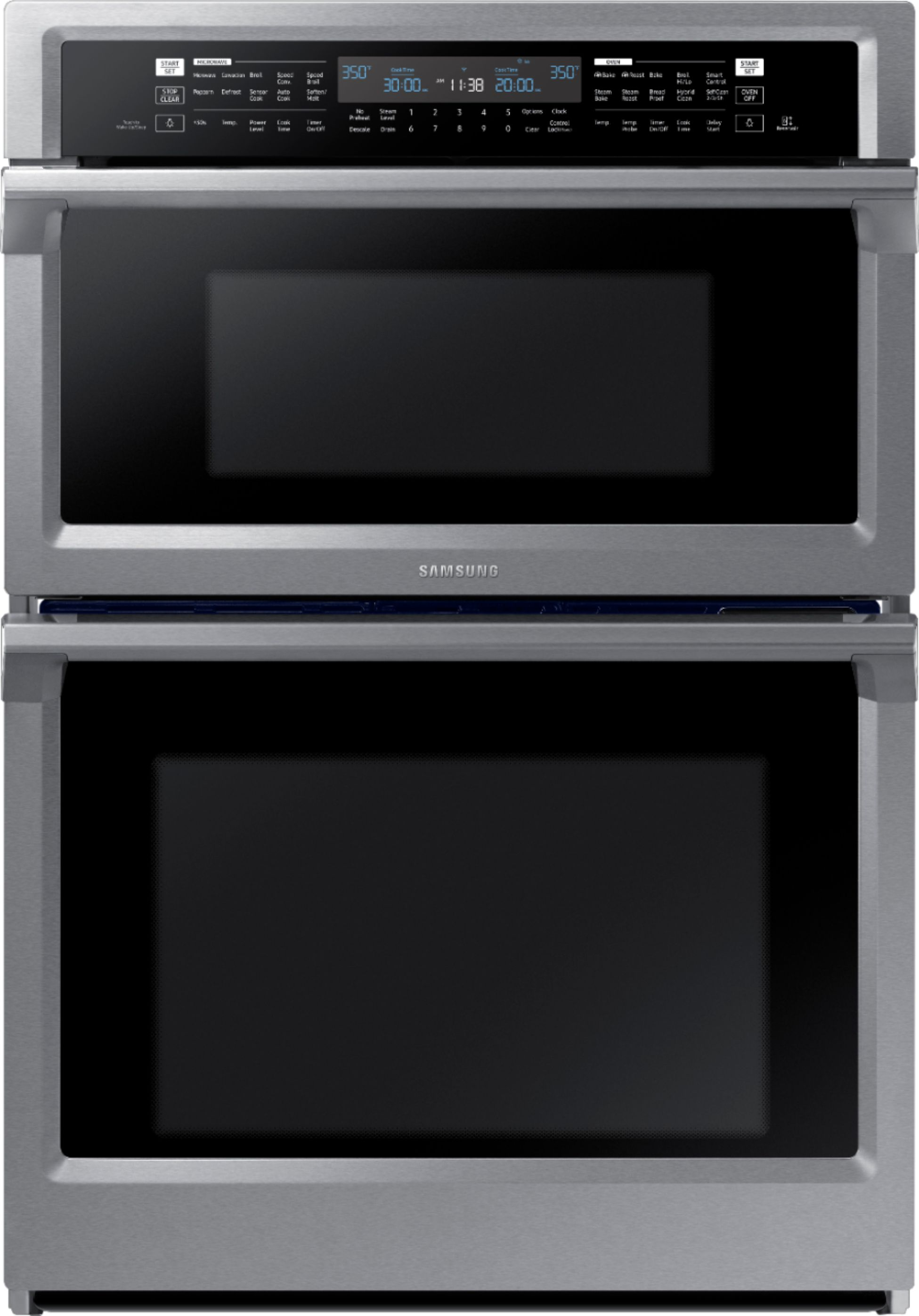 samsung 30 microwave combination wall oven with steam cook and wifi stainless steel