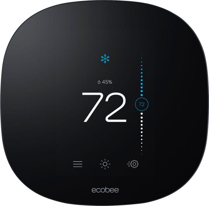 Zoom in on Front Zoom. ecobee - ecobee3 lite Smart Thermostat - Black.