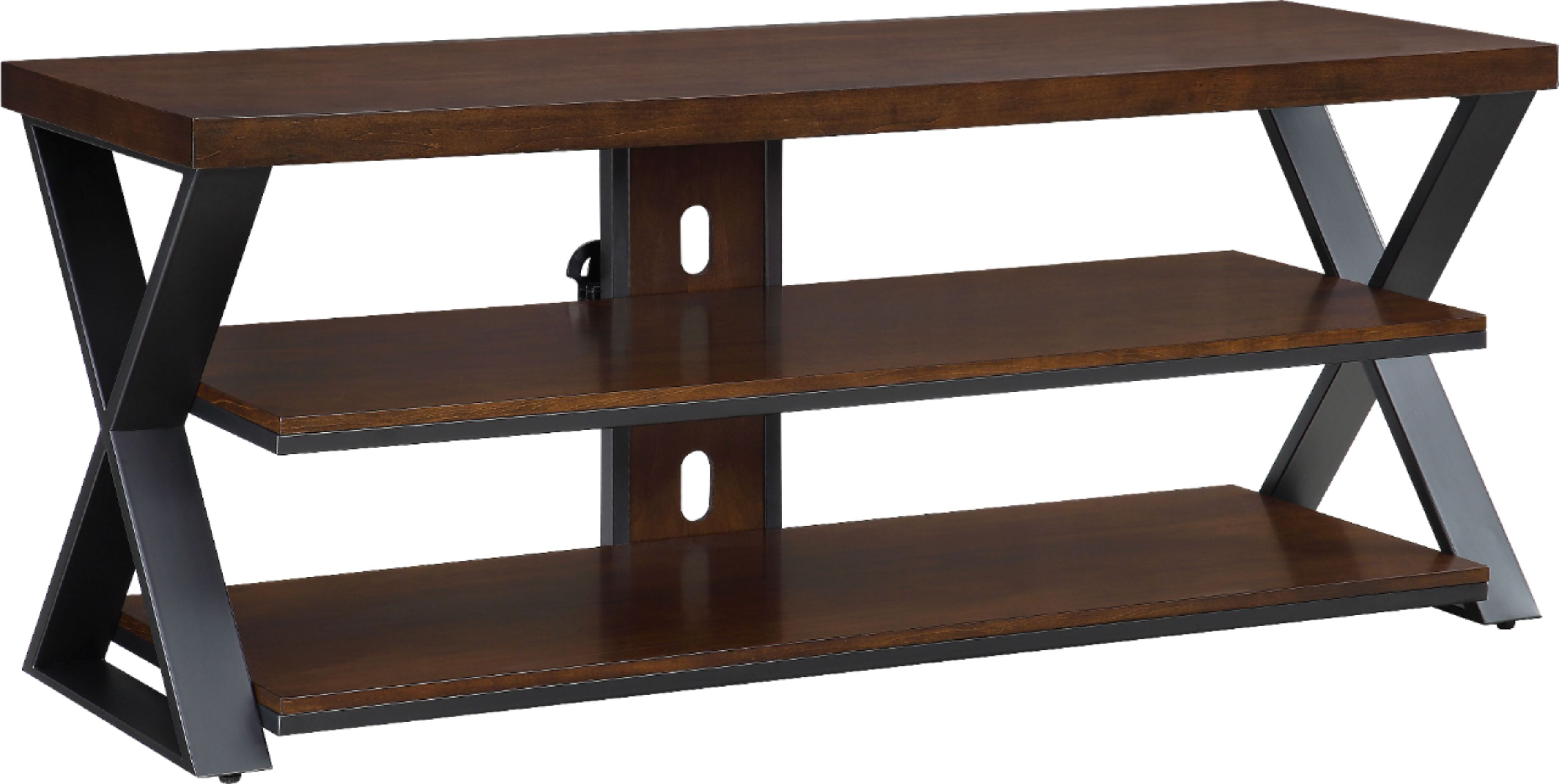 whalen furniture tv stand for most tvs up to 60 cherry brown