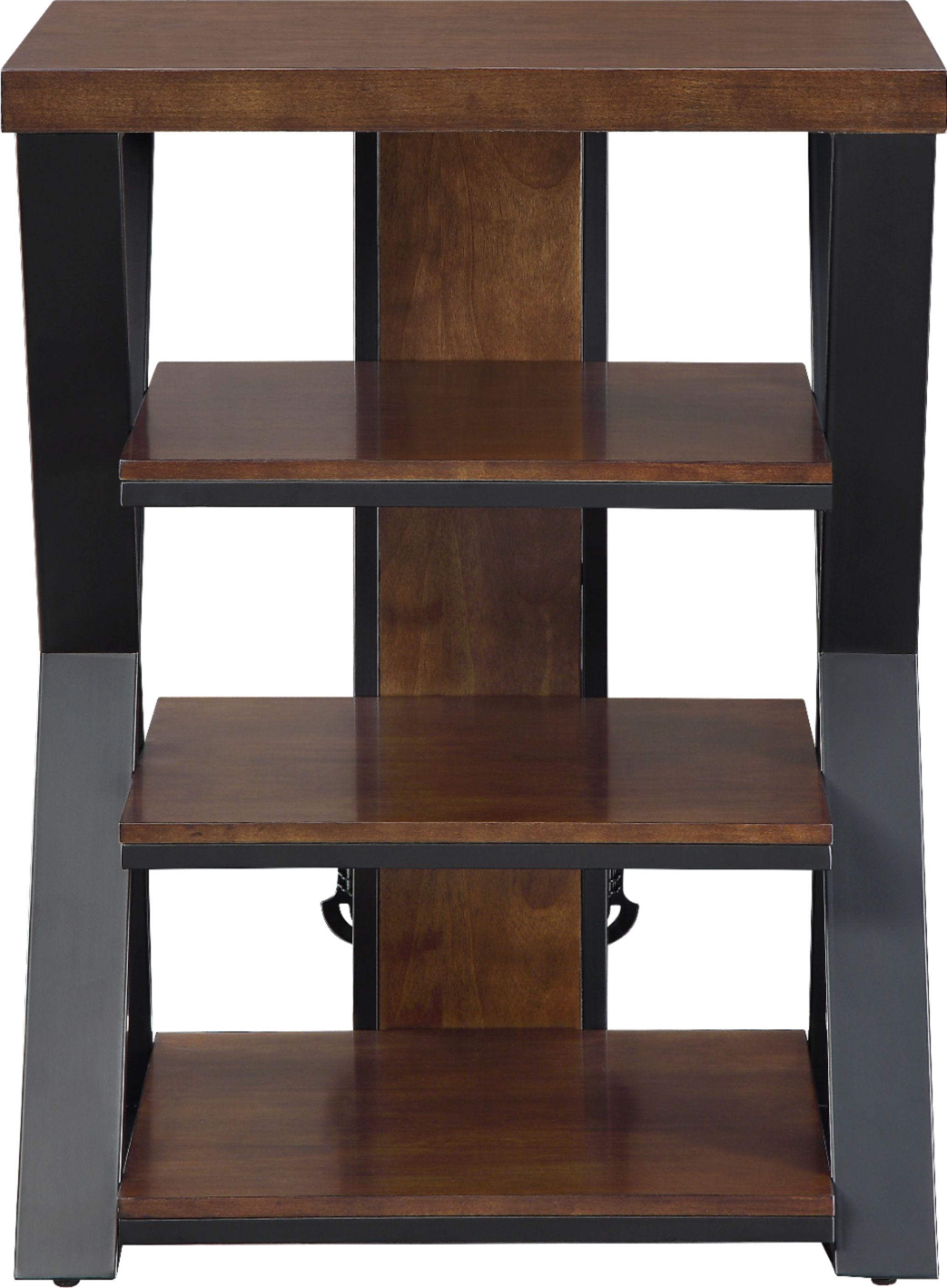 whalen furniture tower stand for tvs up to 32 medium brown cherry