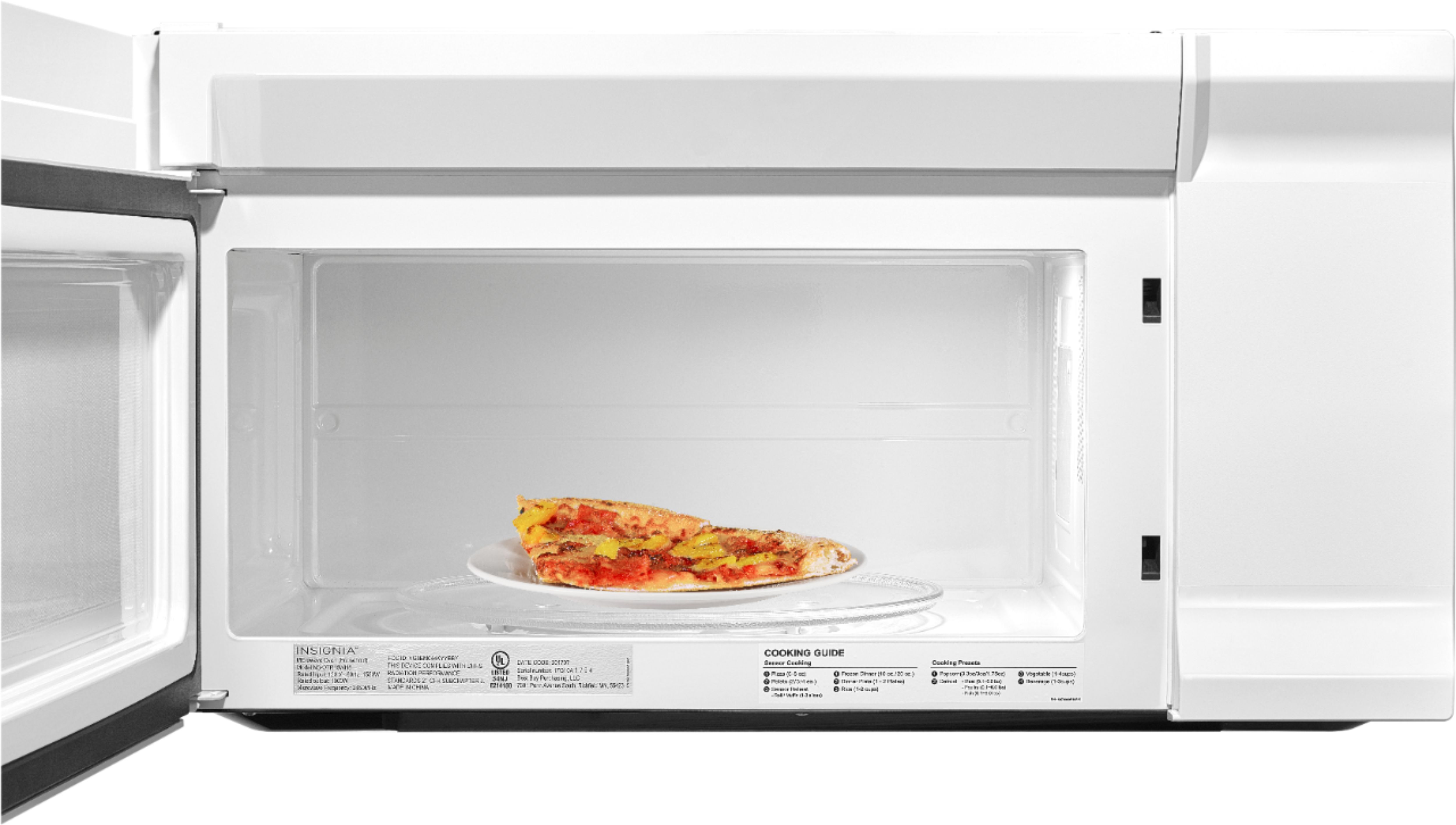insignia 1 6 cu ft over the range microwave white