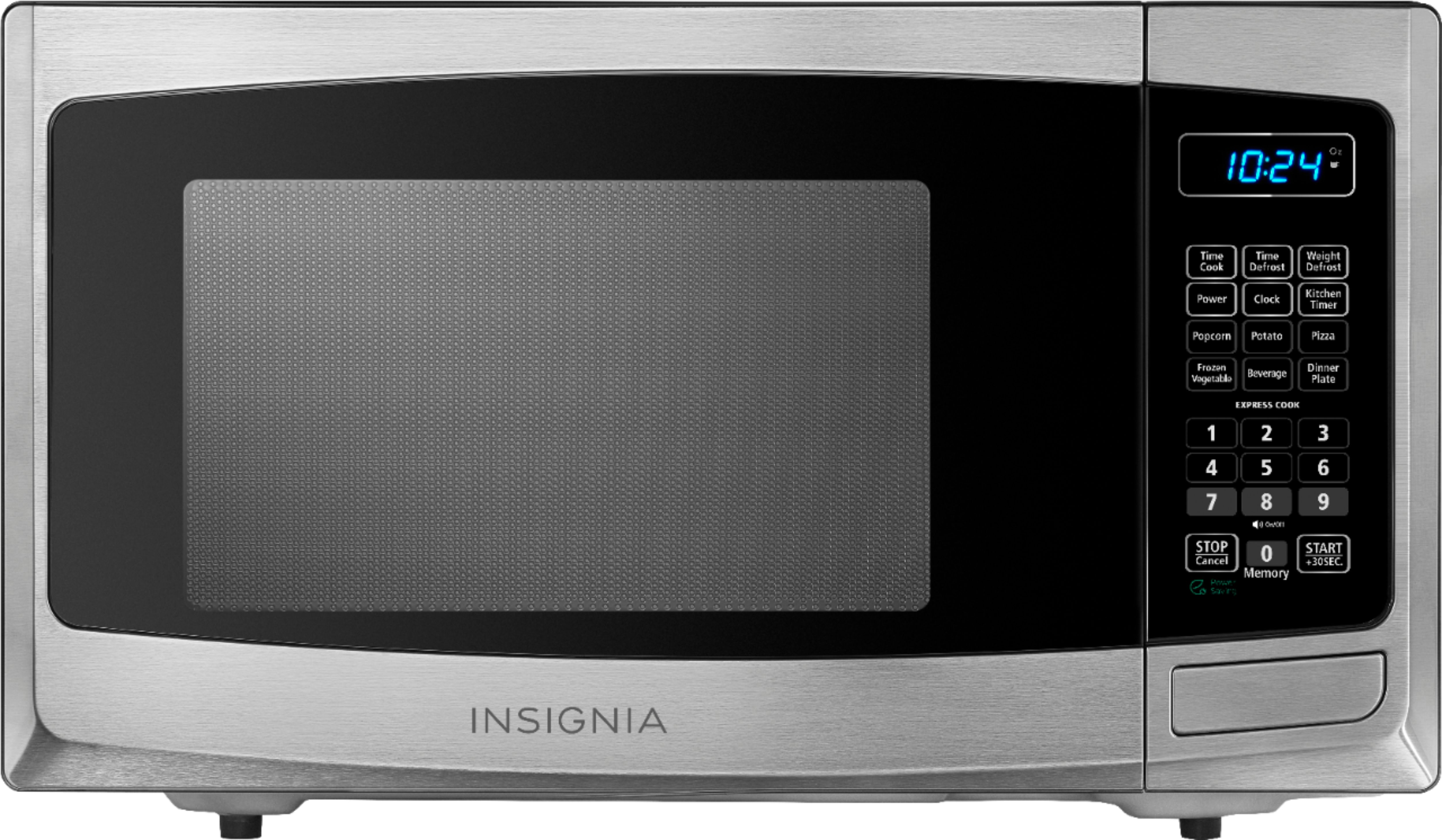 insignia 0 9 cu ft compact microwave stainless steel