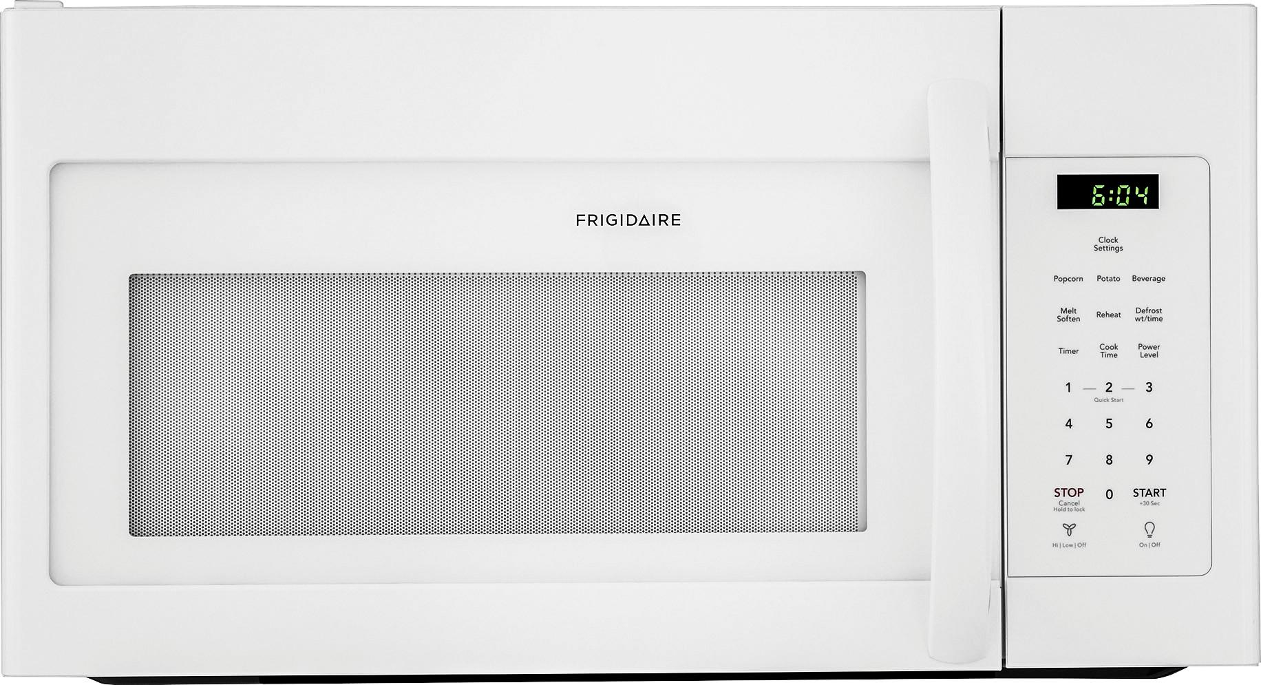 frigidaire 1 6 cu ft over the range microwave white