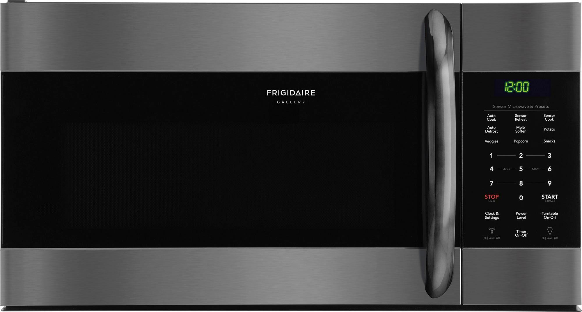 frigidaire gallery 1 7 cu ft over the range microwave with sensor cooking black stainless steel