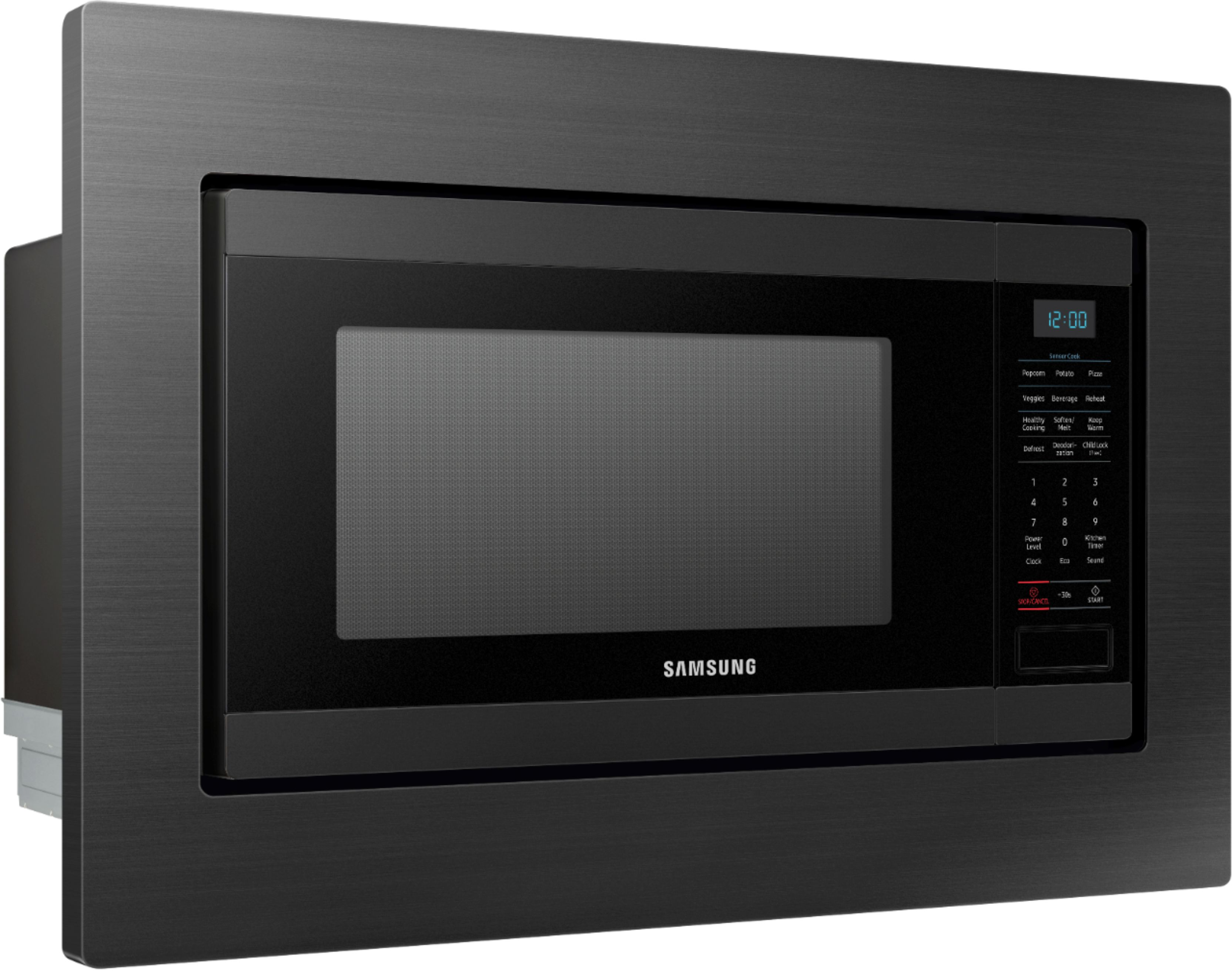 30 trim kit for samsung ms19m8020tg microwave fingerprint resistant black stainless steel