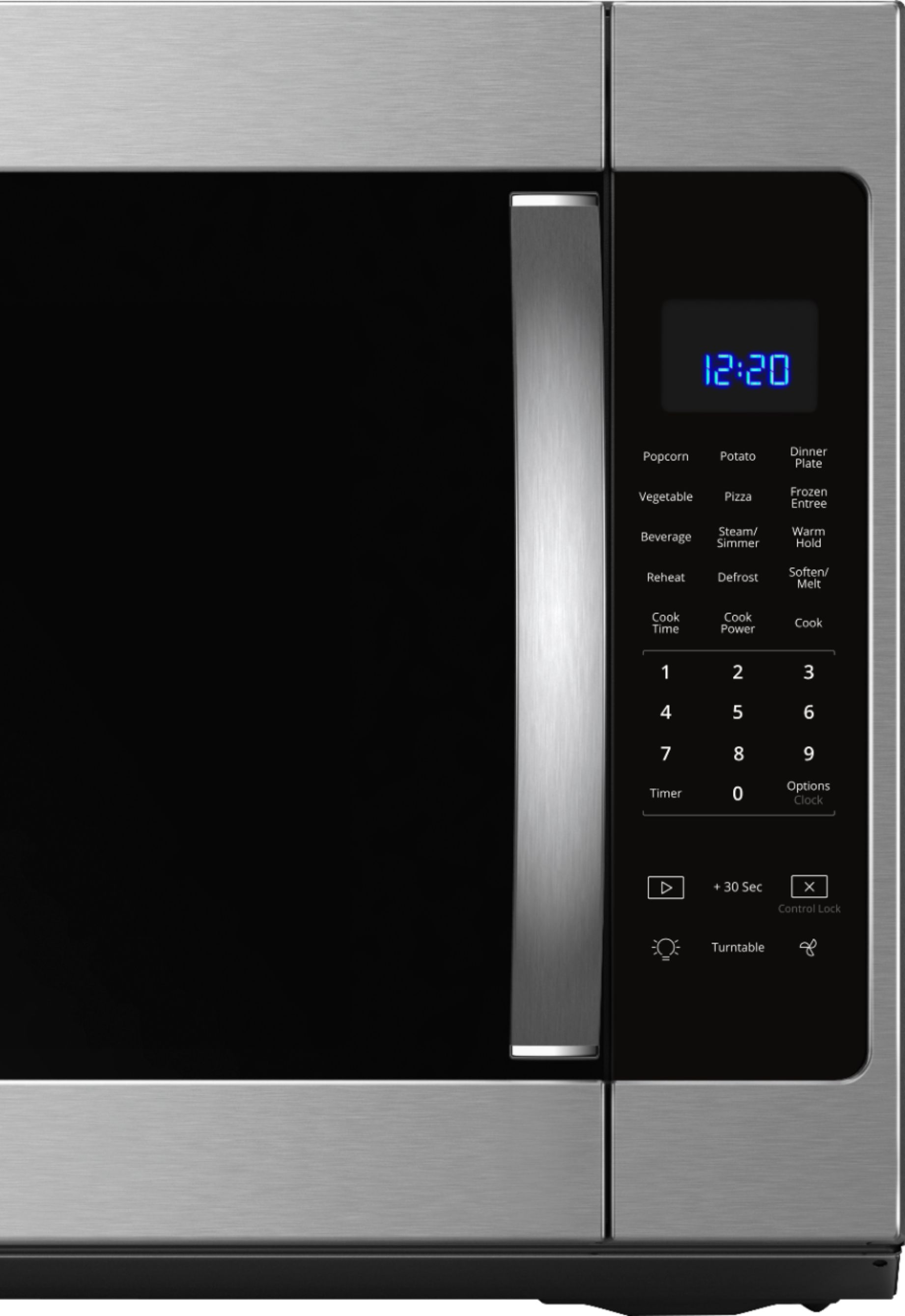 whirlpool 2 1 cu ft over the range fingerprint resistant microwave with sensor cooking stainless steel fingerprint resistant stainless steel