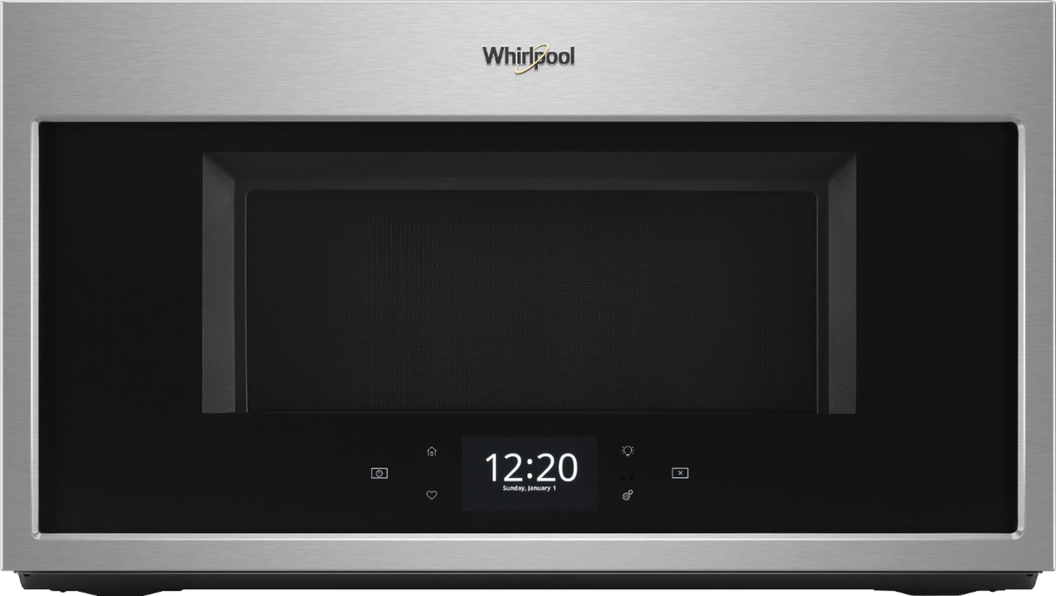 whirlpool 1 9 cu ft convection over the range microwave stainless steel