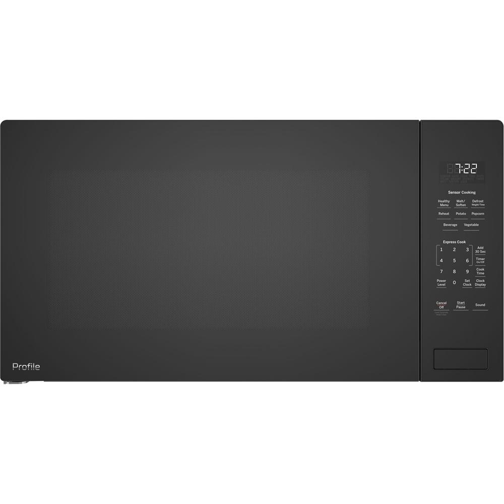ge profile 2 2 cu ft built in microwave black on black
