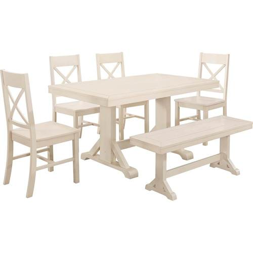 White 6 Piece Dining Set