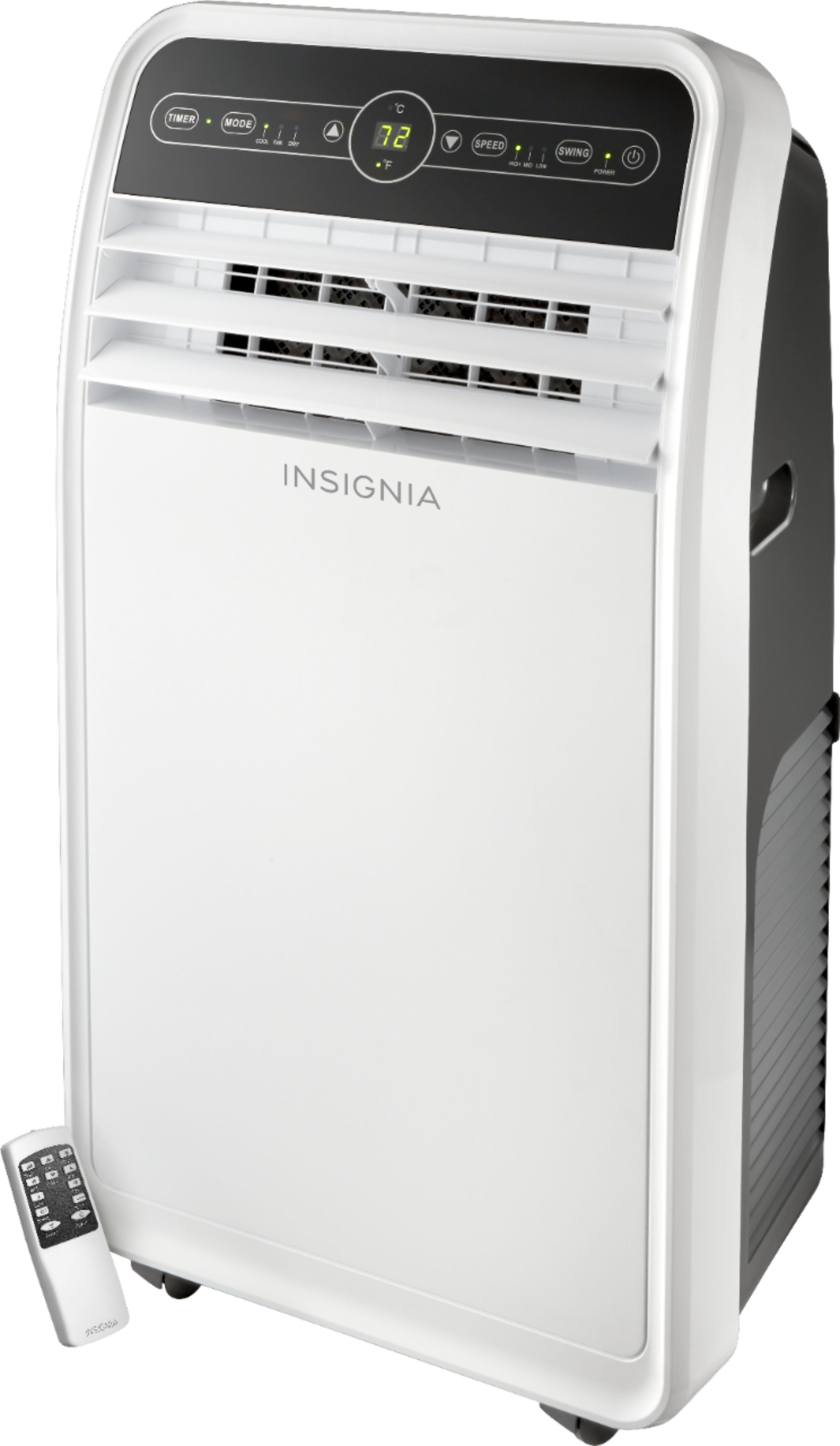 insignia 450 sq ft portable air conditioner white gray