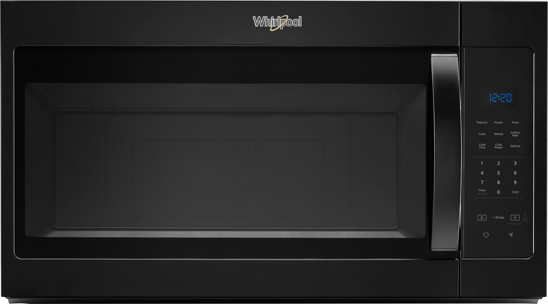 whirlpool 1 7 cu ft over the range microwave black