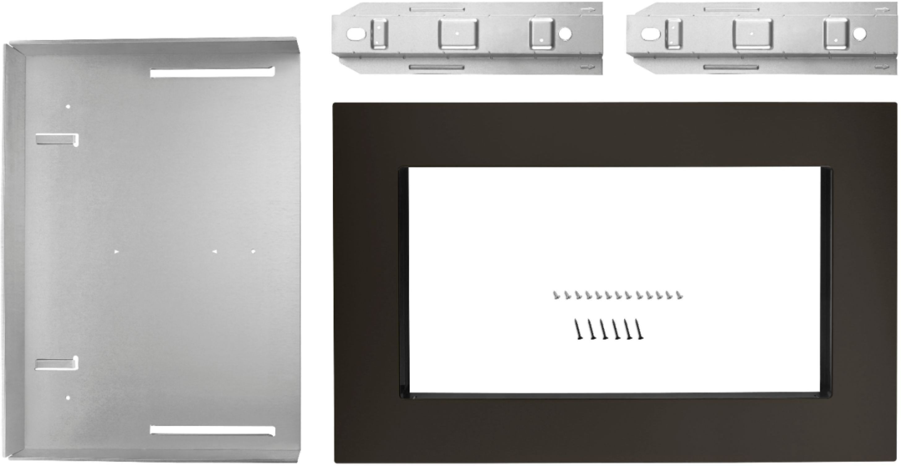 27 trim kit for whirlpool 2 2 cu ft countertop microwave ovens black stainless steel