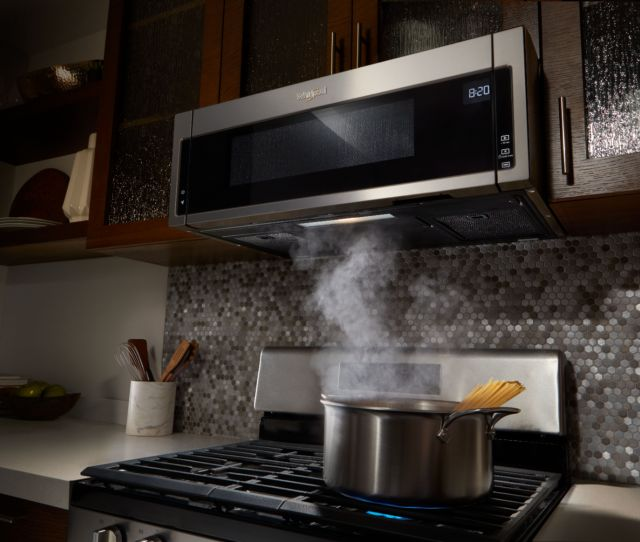 Ft Low Profile Over The Range Microwave Hood Combination Stainless Steel Wml55011hs Best Buy