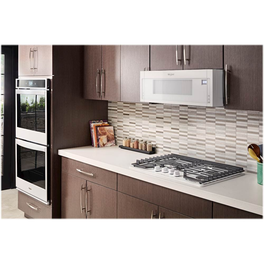 whirlpool 1 1 cu ft low profile over the range microwave hood combination white