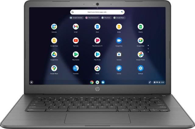 "HP - 17"" Touch-Screen Chromebook - Intel Celeron - 17GB Memory - 17GB eMMC  Flash Memory - Grey"