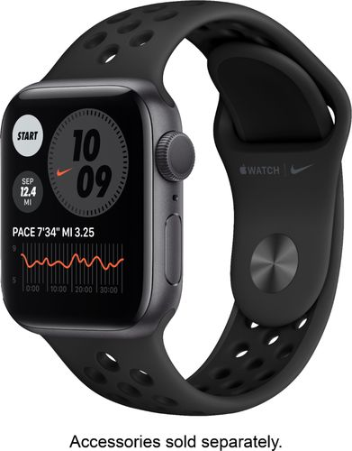 Apple Watch Nike Series 6 (GPS) 40mm Space Gray Aluminum Case with Anthracite/Black Nike Sport Band - Space Gray