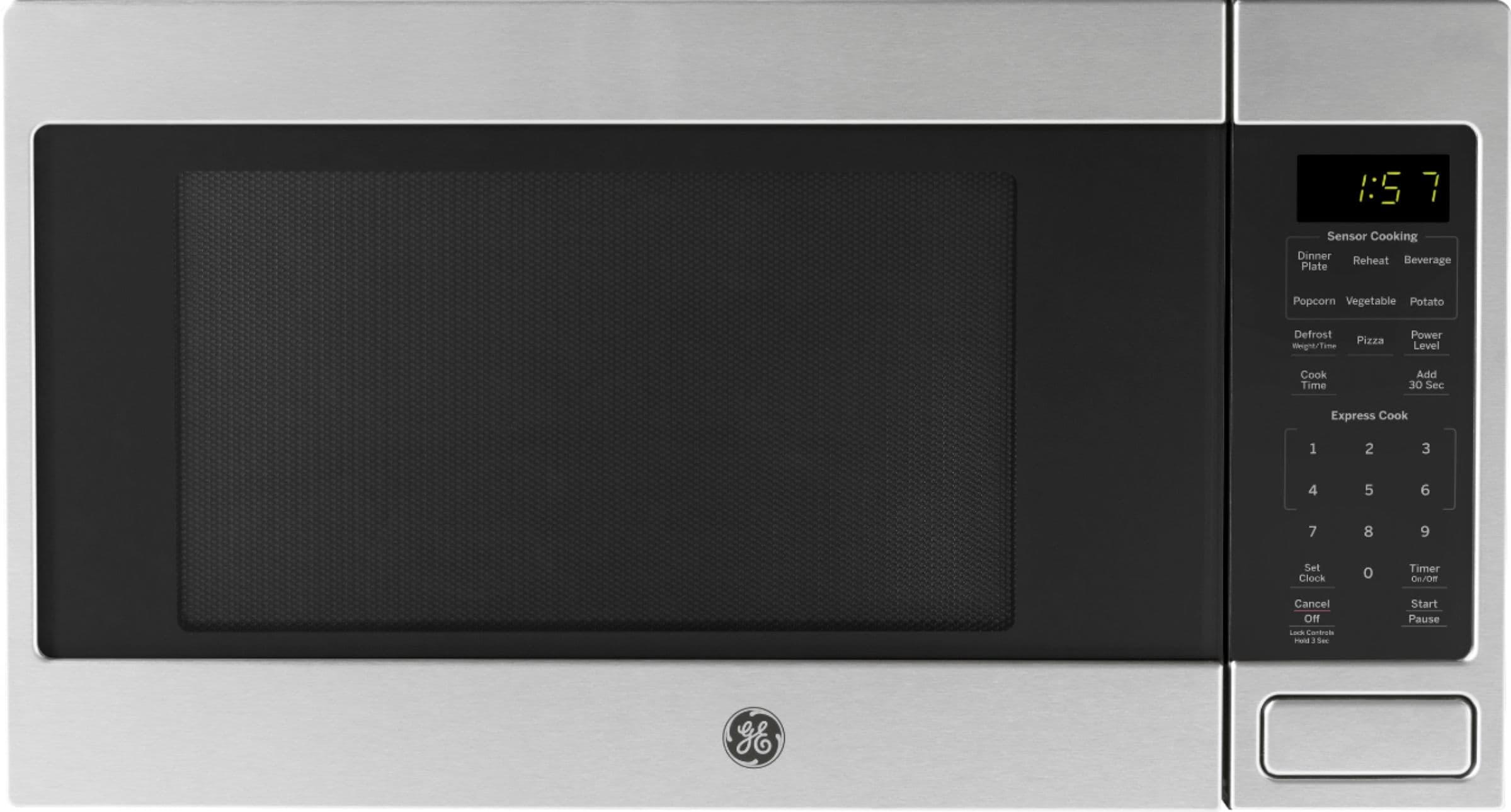 ge 1 6 cu ft microwave with sensor cooking stainless steel