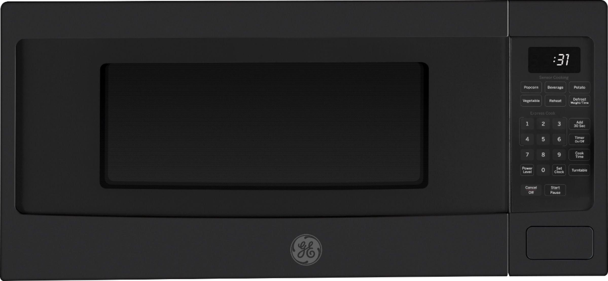 ge profile 1 1 cu ft microwave black slate