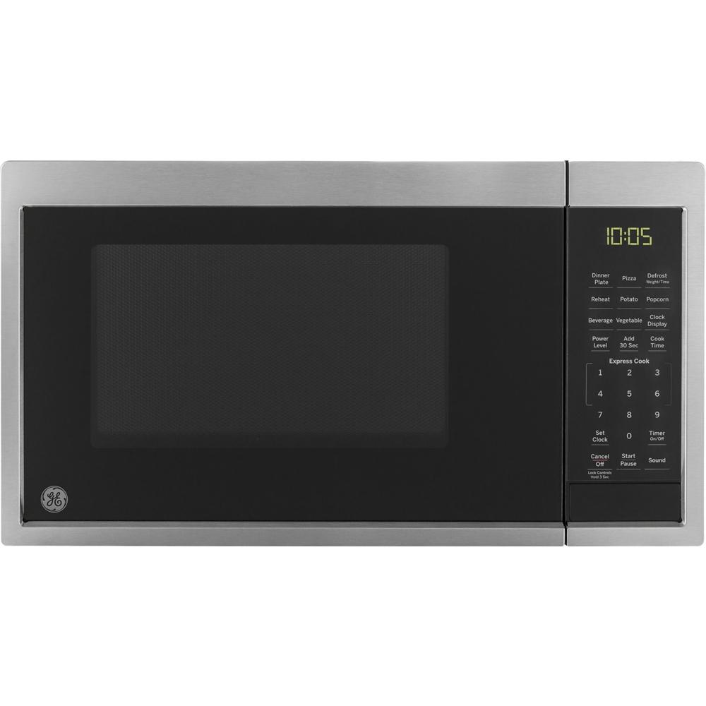 ge 0 9 cu ft microwave stainless steel