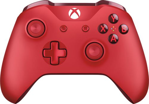 Microsoft - Wireless Controller for Xbox One, Xbox Series X, and Xbox Series S - Red
