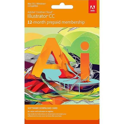 Adobe - Illustrator CC (1-Year Subscription)