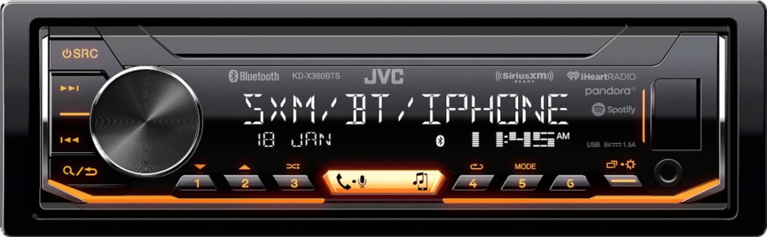 JVC - In-Dash Digital Media Receiver - Built-in Bluetooth - Satellite Radio-Ready with Detachable Faceplate - Black