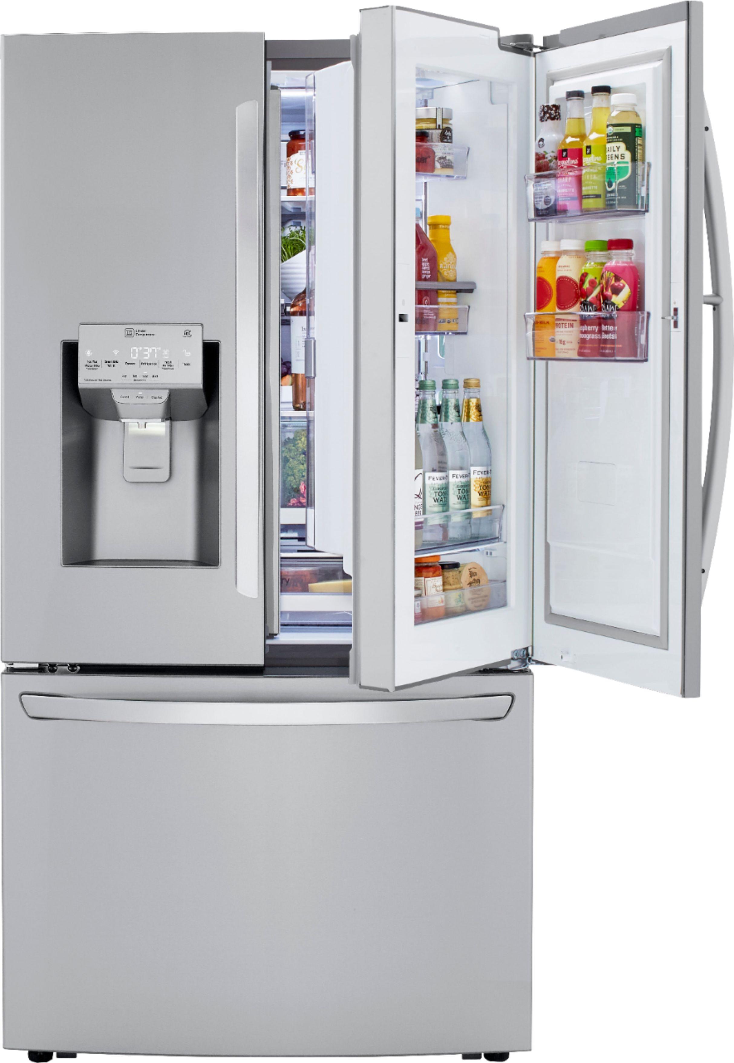 Customer Reviews Lg 29 7 Cu Ft French Door In Door Refrigerator Stainless Steel Lrfds3006s Best Buy