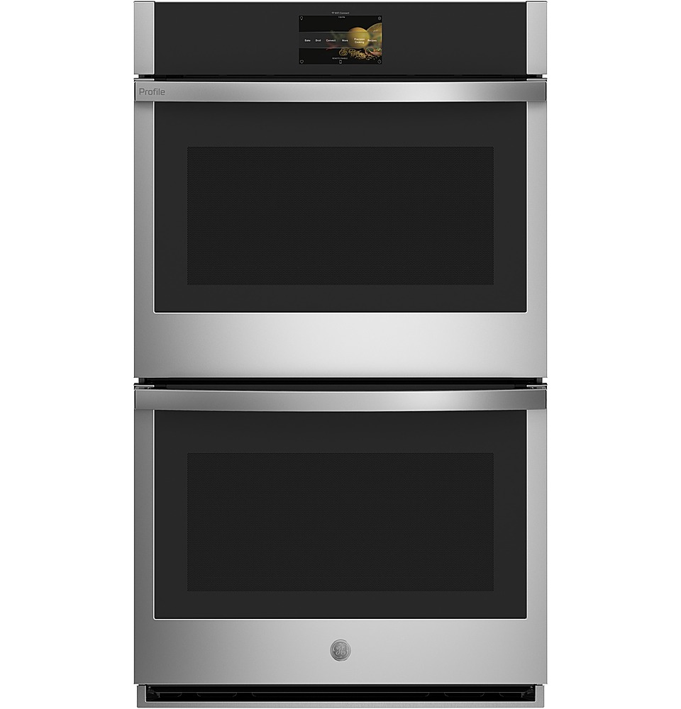 ge profile series 30 built in double electric convection wall oven stainless steel