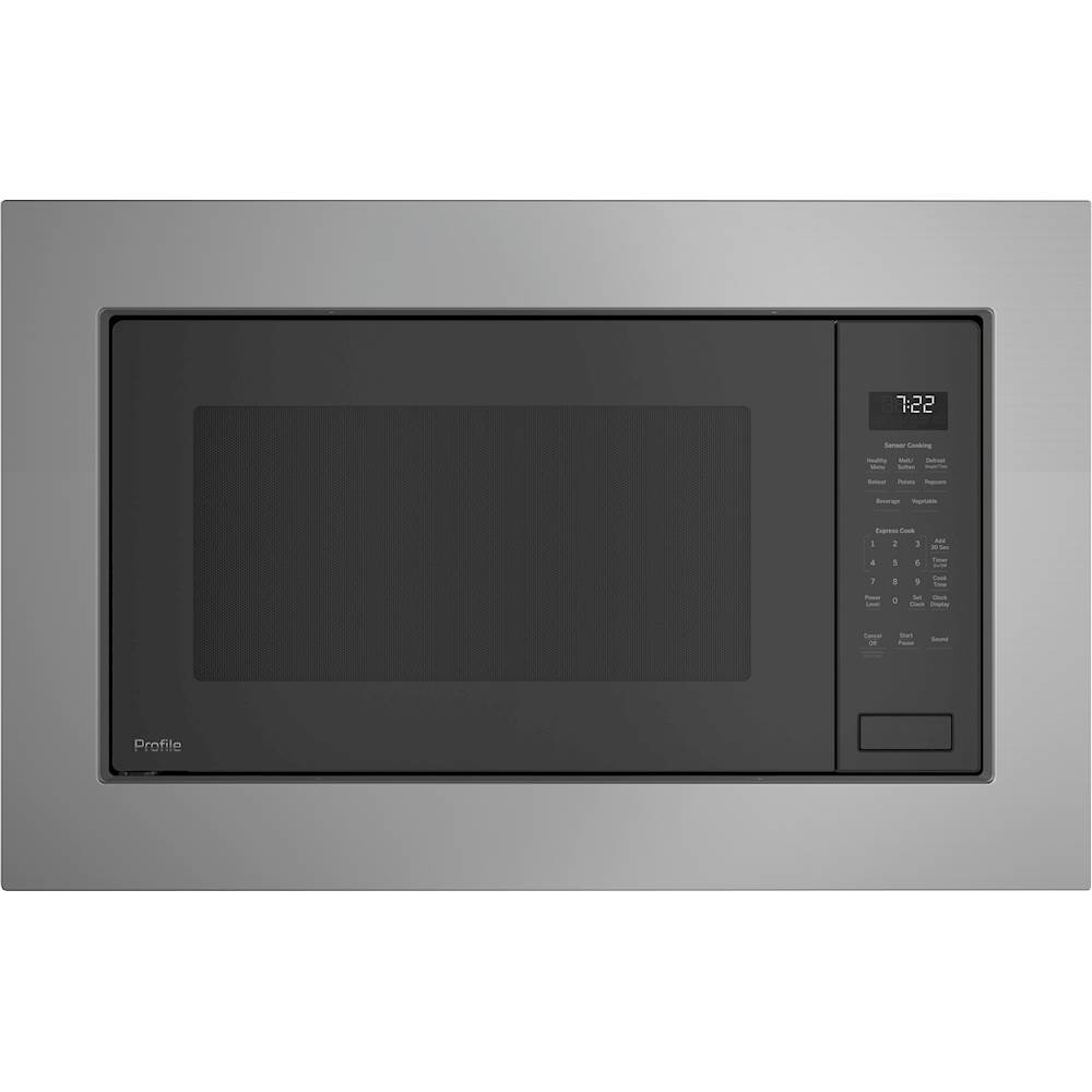 ge profile series 2 2 cu ft built in microwave gray