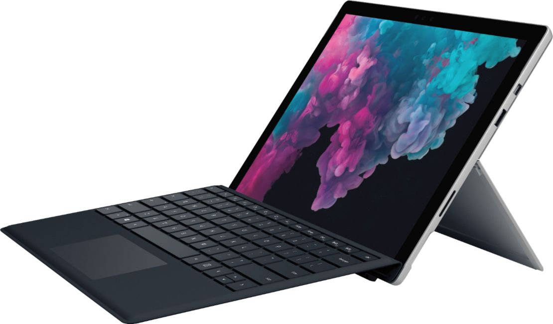 "Microsoft - Surface Pro 6 with Black Keyboard – 12.3"" Touch Screen – Intel Core i5 – 8GB Memory – 128GB SSD (Latest Model) - Platinum"