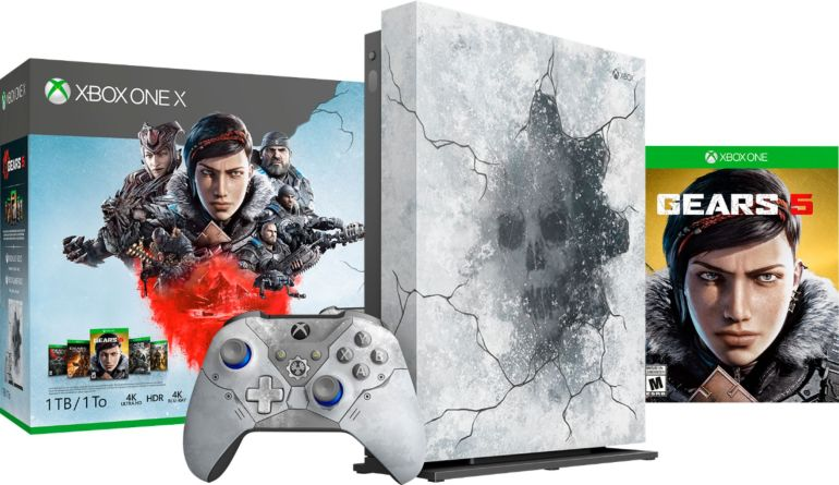 Microsoft - Xbox One X 1TB Gears 5 Limited Edition Console Bundle - Artic Blue