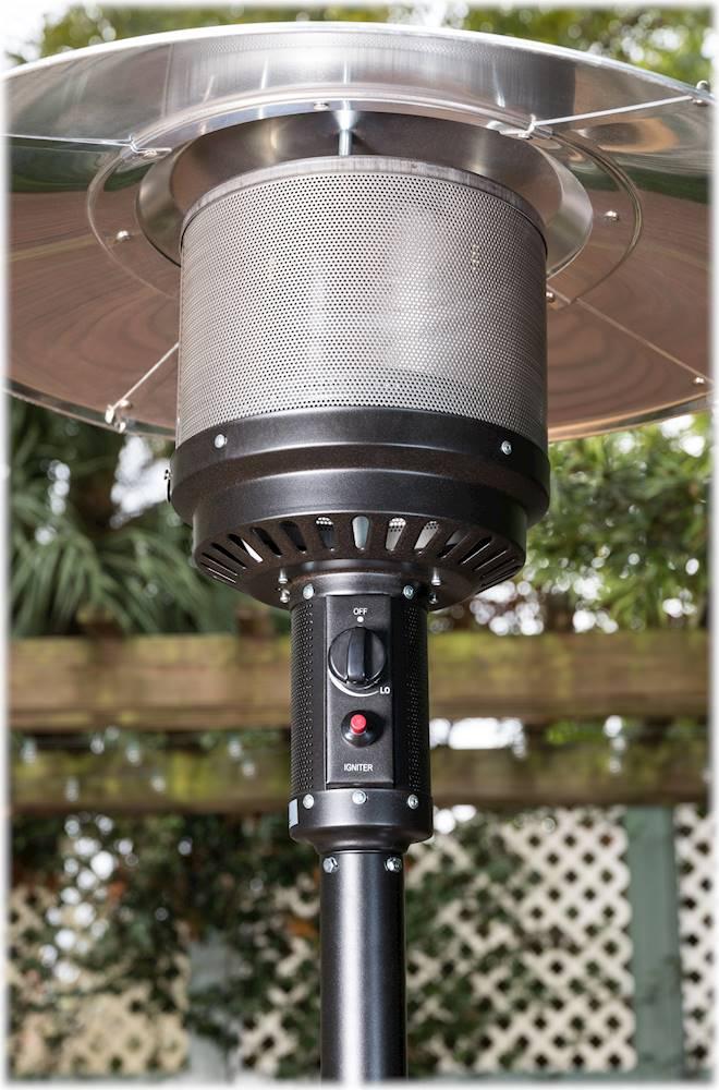 fire sense patio heater espresso