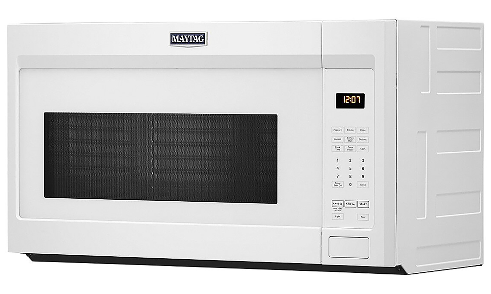 maytag 1 7 cu ft over the range microwave white