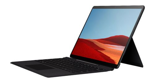 """Surface Pro X - 13"""" Touch Screen - Microsoft SQ1 - 8GB Memory - 256GB SSD - WiFi + 4G LTE - Device Only - Matte Black"""